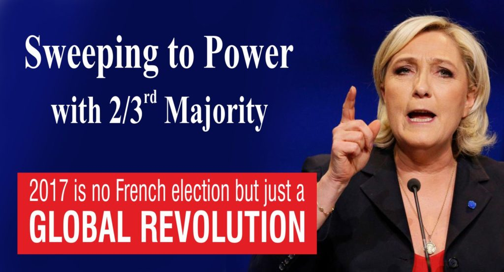 LE PEN SWEEPING TO POWER IN FRANCE